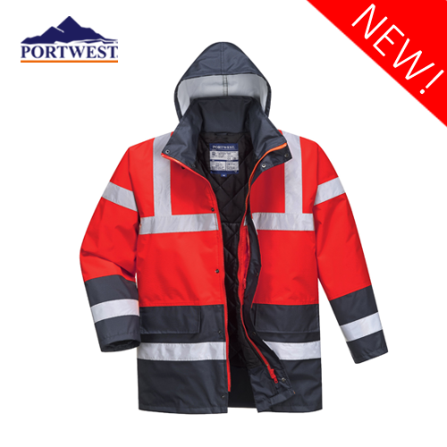 Hi-Vis Contrast Traffic Jacket S466